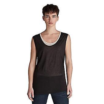 G-STAR RAW Ren Dubbel lager Lös Kortärmad T-shirt, Svart/Vit 9908-c319, S Kvinna