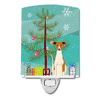 Caroline schätze Frohe Weihnachtsbaum Whippet Keramik Nachtlicht, 6 X 4, Multicolor