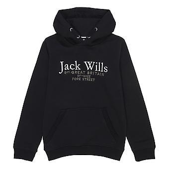 Jack Wills Kids Batsford Script Logo Hoodie
