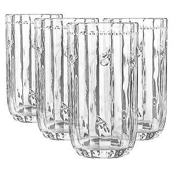 4x bijenglas highball glazen patroon lange drank cocktail tumblers 480ml
