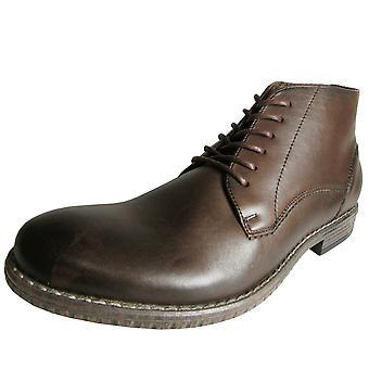 Steve Madden Mens Grafton Lågt snitt Läder Ankle Boot Sko