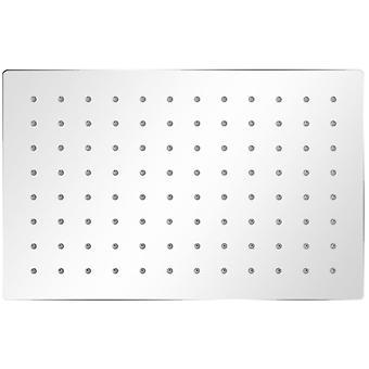 vidaXL têtes de douche à pluie 2 pcs. Acier inoxydable 20 x 30 cm