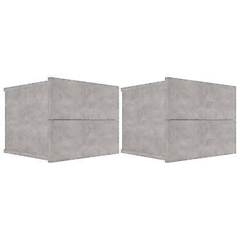 comodini vidaXL 2 pezzi. cemento grigio 40 x 30 x 30 cm truciolato