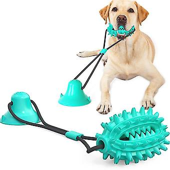 Sininen koiran köysipallo imukuppikoiran puruleluilla aggressiivisille purukumeille x1945