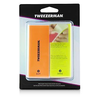 Tweezerman Neon calda 4 In 1 File, Buff, liscio & brillare blocco