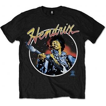Jimi Hendrix Script Circle Mens Black T Shirt: XXL