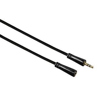 Hama 00122321 3m 3,5mm 3,5mm čierny zvukový kábel - audio kábel (3,5mm, muž/žena, 3,5mm, muž/žena, 3 m, čierna)