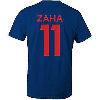 Wilfried zaha 11 club style t-shirt royal/red - large