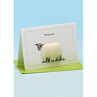 Thank Ewe' Handmade Sheep Card