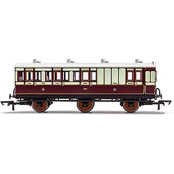הורנבי LNWR 6 גלגל מאמן בלם מחלקה 3 7463 דגם אדום