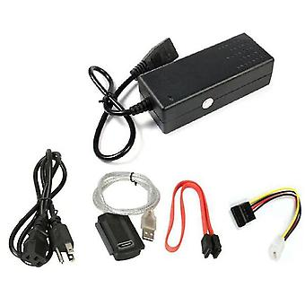 Usb 2.0 To Ide Sata S-ata 2.5 3.5 Hd Hdd Hard Drive Adapter Converter Eu Plug