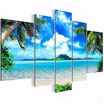 5kpl kehystämättömän kankaan maalia Merimaisema Rantamaalaukset Moderni kodin seinätaide sisustus