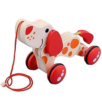 Push pedal riding vehicles wooden puppy design pull toy car