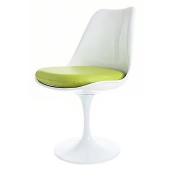 Fusion Living blank vit och grön PU svängbar sidostol
