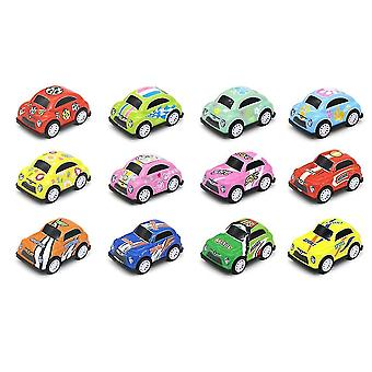 12kpl Mini Seos Kilpa-auto malli Inertial Diecast Vedä takaisin auto lelut