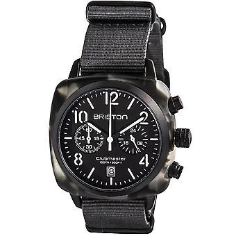 Briston 15140.pbam.gt.3.ng Mens Trendsetters Kronograf Matt Grey Nato Strap Watch