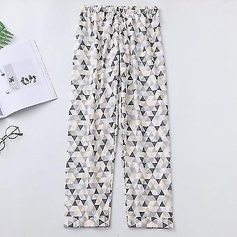 נשים מודפסות קיץ כותנה נוחה לנשימה מכנסי פיג'מה רופפים