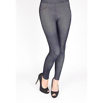 Leggings womenins com padrão jeans