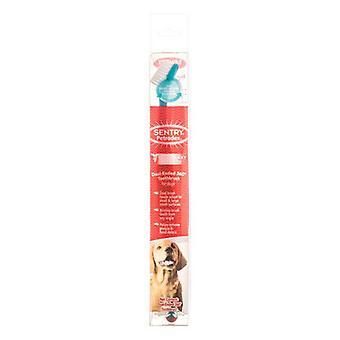 """Petrodex Dual Ended 360 stupňová zubná kefka pre psov - veľké psy - 8,25"""" kefa - (priemer štetiny)"""