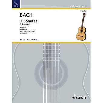 3 sonater för gitarrsolo: Från sonat för violin, Bwv 1001, 1003 och 1005 (Pocket)