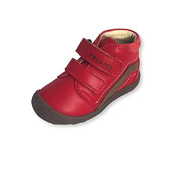 Primigi red ankle boots with toe bumper