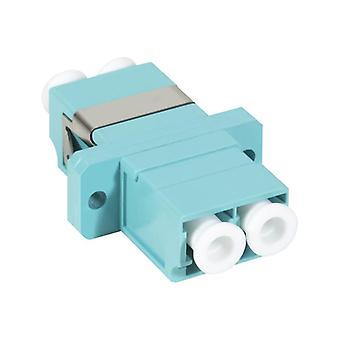 Serveredge Lc Female To Lc Female Multi Mode Duplex Om4 Fibre Adaptor