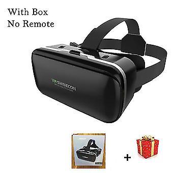 Vr shinecon 6.0 casque óculos de realidade virtual 3 d 3d óculos capacete de fone de ouvido para iphone android
