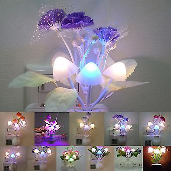 Novelty 7 Color Night Light Us Plug Induction Dream Mushroom Fungus Luminaria Lamp 220v Led Mushroom Lamp Led Night Lights