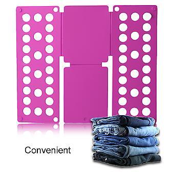 Home Convenient Clothes Folder Organizer Plastic Quick Shirt Folding Board