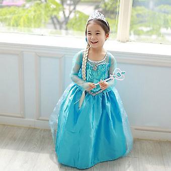 Enfants Filles Reine Elsa Princesse Robes Cosplay Costume Déguisement