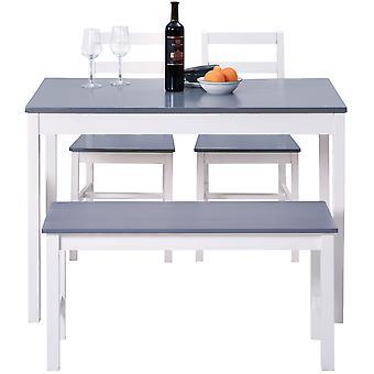 ダイニングテーブル、椅子、ベンチセット