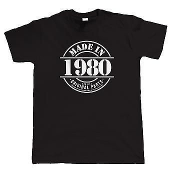 Feito em 1980 Mens Funny 40th Birthday T Shirt, Gift for Him Dad Grandad