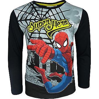 Marvel Spiderman largo manga Top / camiseta
