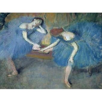 Deux dansöser au repos affisch Skriv av Edgar Degas
