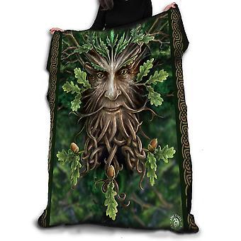 Oak king fleece blanket / throw / tapestry  by anne stokes