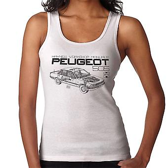 Haynes Workshop Manual 0762 Peugeot 505 Black Women's Vest