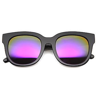 Womens buzina armação de óculos de sol com lente espelhada UV400 protegido