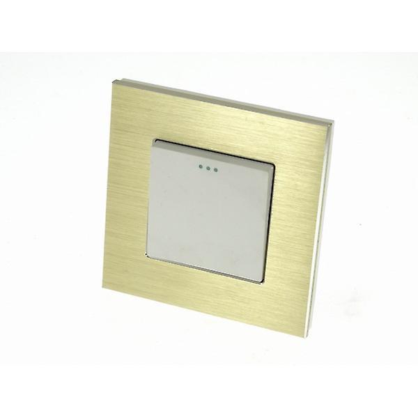 I LumoS Luxury Gold Glass Frame 1 Gang 2 Way Rocker Wall Light Switches