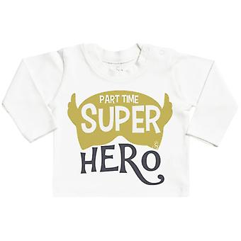 Spoilt Rotten Part Time Super Hero Long Sleeve Baby T-Shirt Top