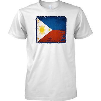 Phillipines Grunge Flagge der Grunge-Effekt - Kinder T Shirt