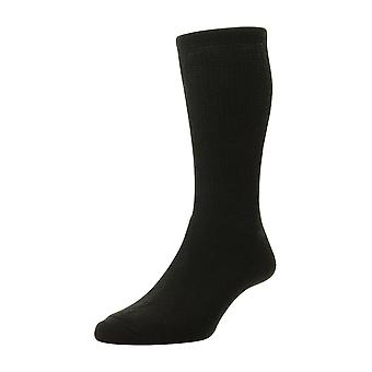 Mens Ladies HJ Hall Wool DIABETIC Smooth Easy Fit Cushion Sock Hj1352