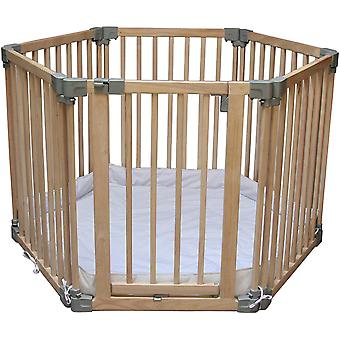 Clippasafe Natural Wooden Playpen with Mat