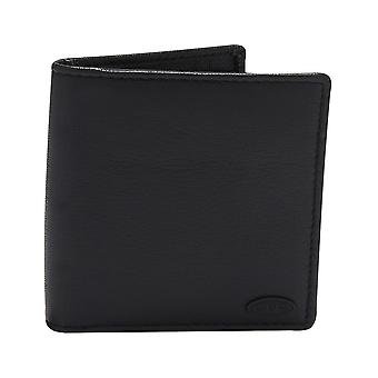 Animal Rife Leather Wallet in Black