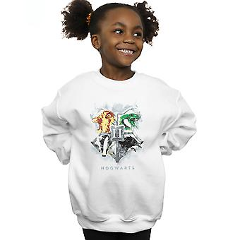 Harry Potter Girls Hogwarts Painted Crest Sweatshirt