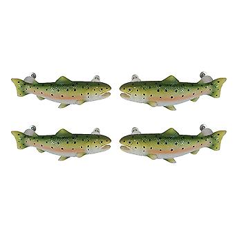 4PC SET Rainbow Trout Drawer / Cabinet Door Pulls