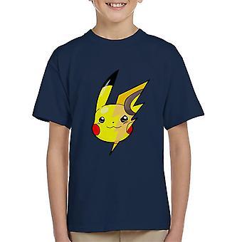 Pokemon Pikachu Raichu Mix Kinder T-Shirt
