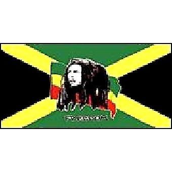 Bob Marley vlag 5 ft x 3 ft met oogjes voor verkeerd-om