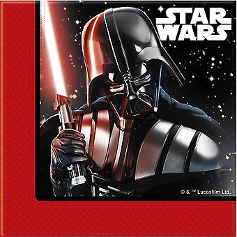 Serviettes napkins Star Wars final kids party birthday 33x33cm 20 units