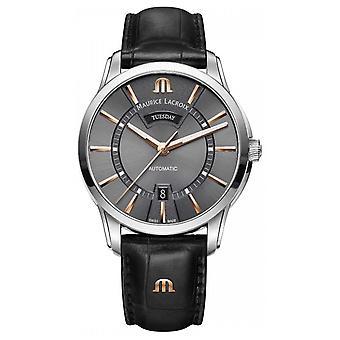 Maurice Lacroix Mens Pontos automatische grijze wijzerplaat PT6358-SS001-331-1 Watch