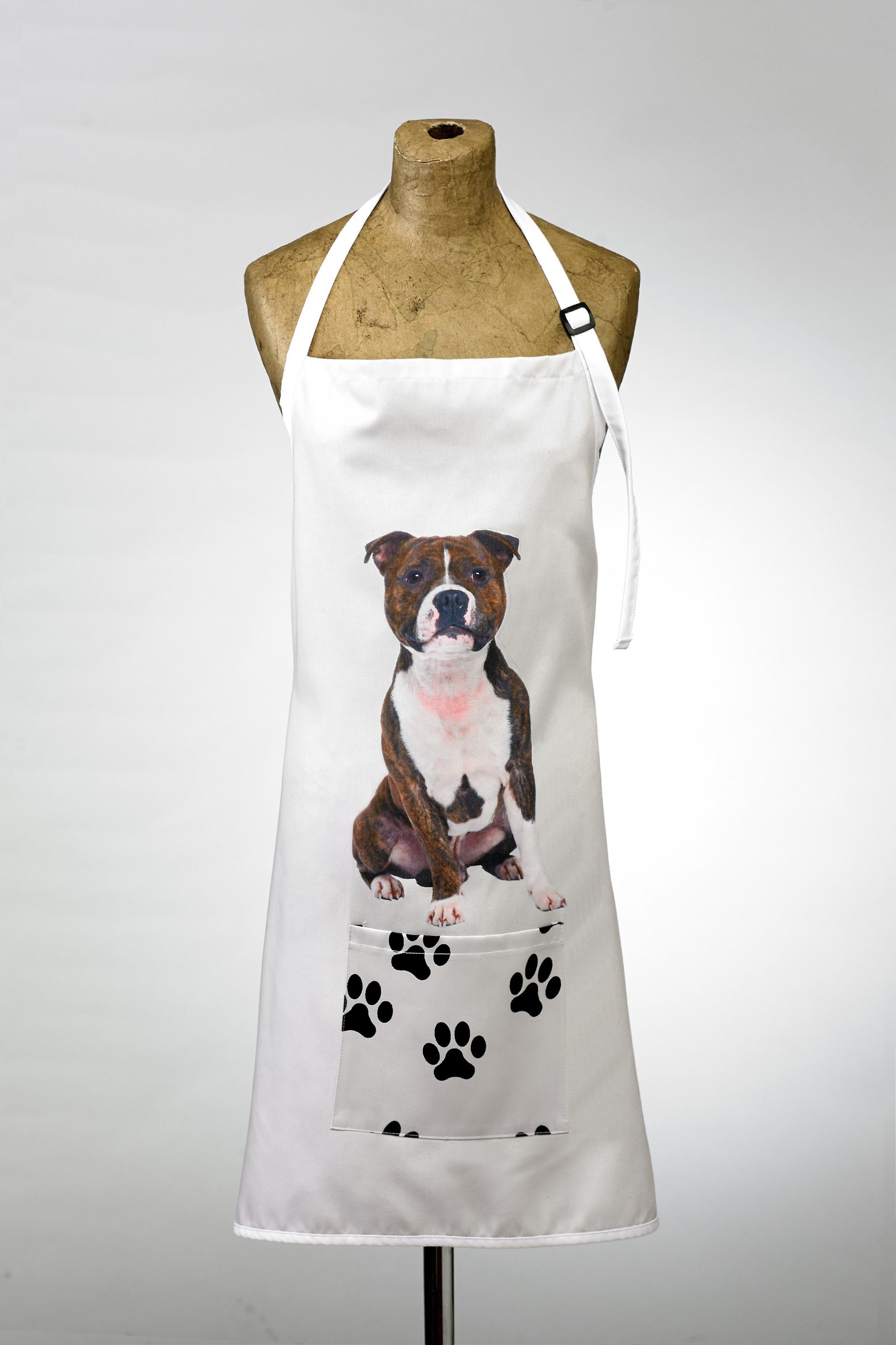 Adorable staffie design apron
